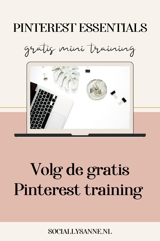 2 Aan de slag met Pinterest voor je bedrijf - vraag de Gratis Pinterest Essentials mini training aan