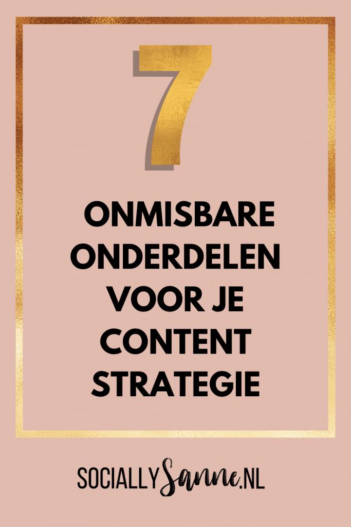 4 Wat is een Content Strategie en 7 onmisbare tactieken - Socially Sanne