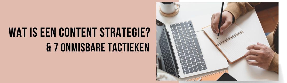 wat is een content strategie blog header