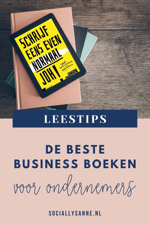 2 De beste businessboeken voor ondernemers - Socially Sanne blog