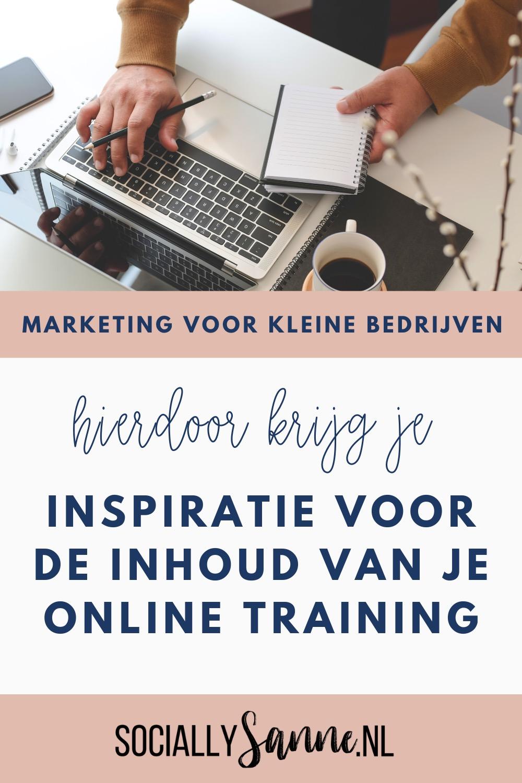1 Inspiratie voor de inhoud van je online training - Socially Sanne blog